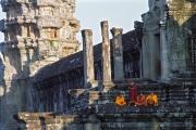4 monks - angkor vat, cambodia