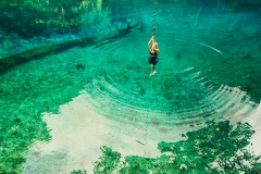 blue hole acrobatics