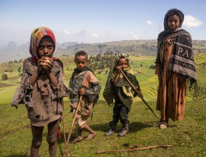 kid shepherds - simien mountains