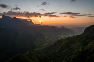 hier geht die sonne - simien mountains