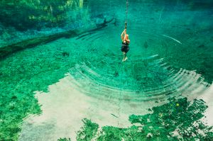 blue hole acrobatics