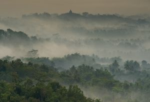 temple in the mist