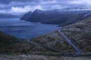 blue hour by the fjord