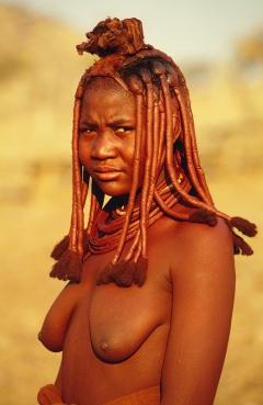 young himba woman, namibia